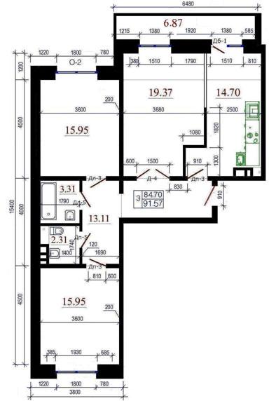 Продается 3-комнатная квартира, 78 м, Раменское