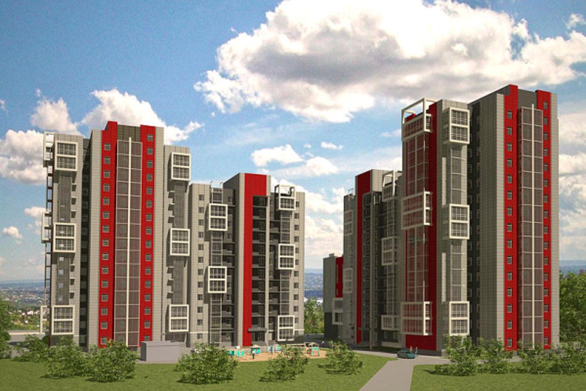Строительство жилого комплекса в Иркутске